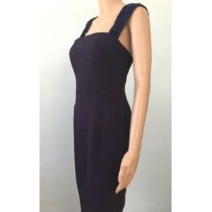 Ann Taylor Dresses - Ann Taylor Women's Blue Sheath Dress Vintage 4